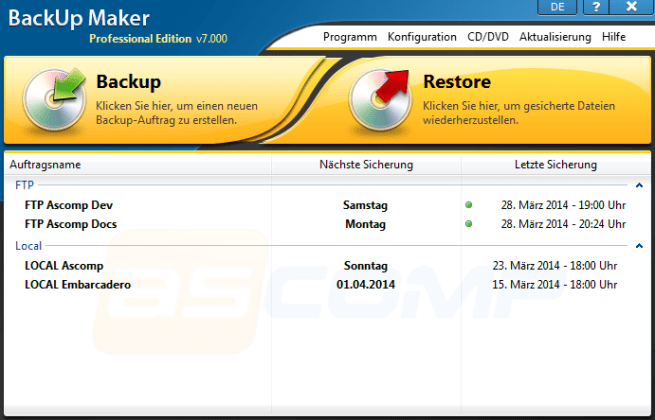 BackUp Maker Professional Crack + Serial Key Latest Version
